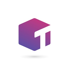 Letter T cube logo icon design template elements vector