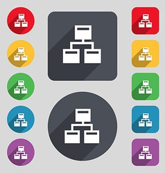 Local Network icon sign A set of 12 colored vector image