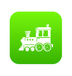 Locomotive icon green vector