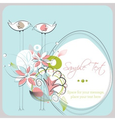 Love Birds Copy Space vector image