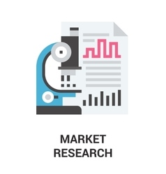 Market research icon concept vector