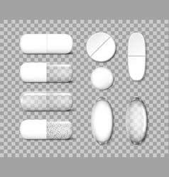 medicine painkiller pills template antibiotic vector image