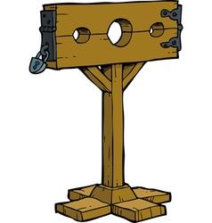 medieval stocks vector image
