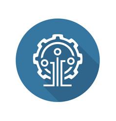 Mining technology icon vector