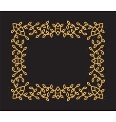 Monogram frame in trendy mono line style vector