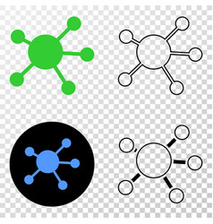 node links eps icon with contour version vector image