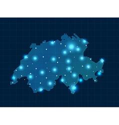 pixel switzerland with spot lights vector image