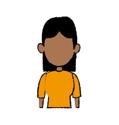 portrait female woman avatar people vector image