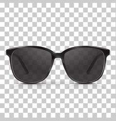 realistic dark sunglasses isolated vector image