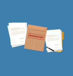 Resignation letter paper document quit from job vector