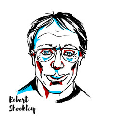 Robert sheckley portrait vector