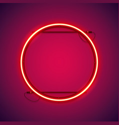 round red neon frame vector image