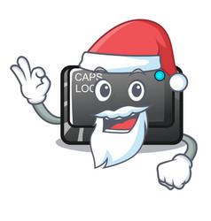 Santa capslock button isolated with cartoon vector