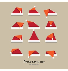 Santa hat flat icon vector image