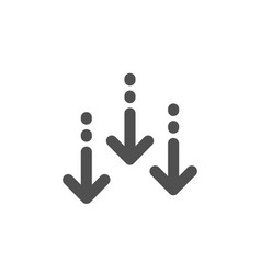 Scroll down arrow icon scrolling screen sign vector