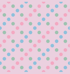 Seamless pattern pastel rainbow with green vector