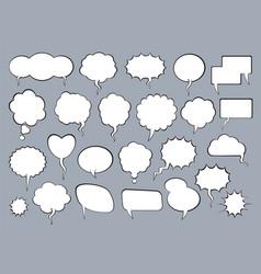 set comic speech balloons vector image