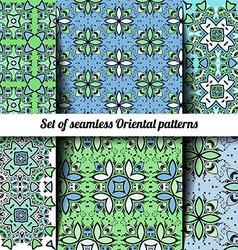 Set of 6 seamless Oriental patterns vector