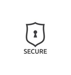 Shield line icon internet vpn security concept vector