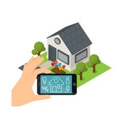 smart house technology vector image