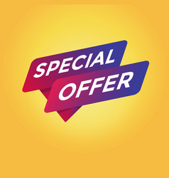 Special offer tag sign vector