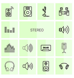 Stereo icons vector