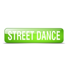 Street dance green square 3d realistic isolated vector