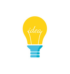 Stylized sign of lightbulb logotype new idea vector