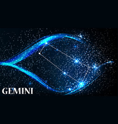 Symbol gemini zodiac sign vector