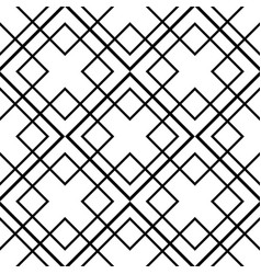 tile pattern with black and white ornament vector image