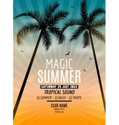 Tropic Summer Beach Party Tropic Summer vacation vector image