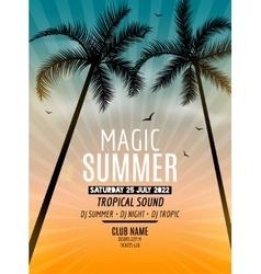 Tropic summer beach party tropic summer vacation vector