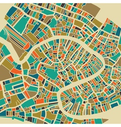 Venice colorful city plan vector image