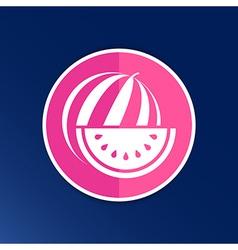 watermelon icon logo natural delicious dessert vector image