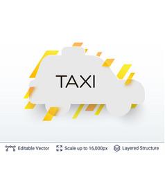 white badge taxi car sticker vector image