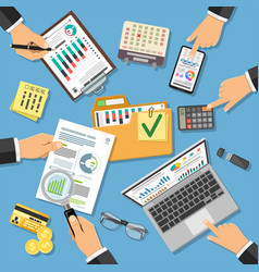workplace auditing tax process accounting vector image