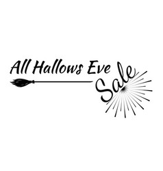 Halloween greeting card calligraphy vector