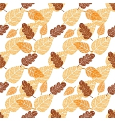 Seamless background with leaves vector image