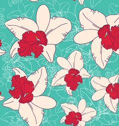 Seamless floral pattern fantasy blooming pink vector image vector image