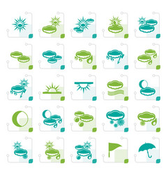 Stylized weather and nature icons vector