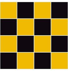 Yellow Black Chessboard Background vector image vector image