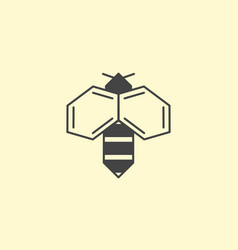 bee honey logo design insect logotype vector image