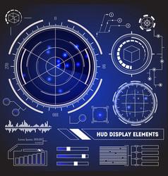 hud futuristic technology display element set vector image
