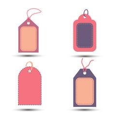 pink tag sale background discount set design vector image
