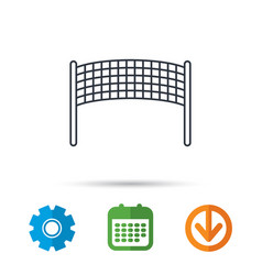 volleyball net icon beach sport game sign vector image
