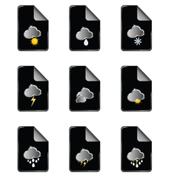 weather icon color vector image
