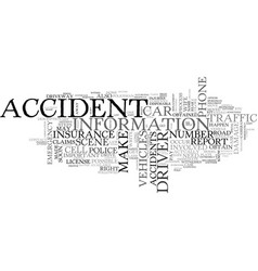 what to do when you re in a car accident text vector image vector image