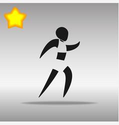 athletics black icon button logo symbol vector image vector image