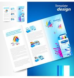 brochure printer cmyk prepress polygraphy ink vector image vector image