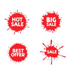 discount label set vector image vector image
